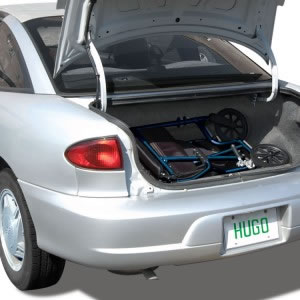 Hugo® Transport Chair fits easily in the trunk of a car