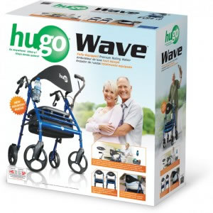 Hugo® Wave Premium Rollator retail box