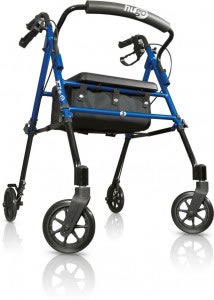 Hugo® Fit 6 Rolling walker with a seat