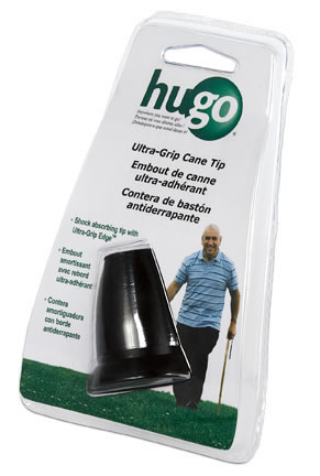 Hugo Ultra-Grip Shock absorbing cane tip with Ultra-Grip Edge™