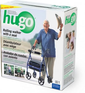 Rolling walker with a seat by Hugo®, Retail box