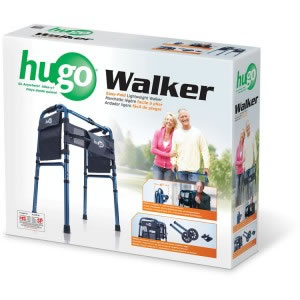 One Touch Button Hugo® Easy-Fold Lightweight Walker retail box