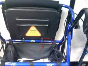 Hugo® Rollator serial number location