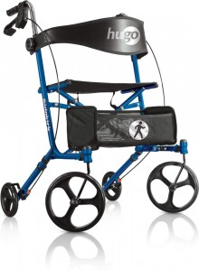 Hugo® Sidekick™ Side-Folding Rollator-Walker with a Seat, Blueberry