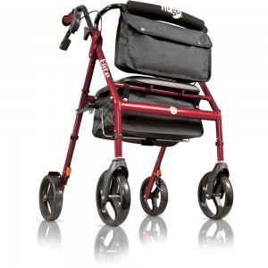 Hugo® Elite Rollator, Garnet Red