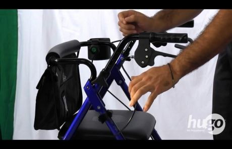 How to adjust the handles of your Hugo® rollator
