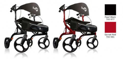 Hugo Explore rollator, Pearl black or Garnet red