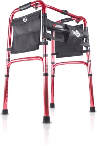 Hugo® Easy-Fold Lightweight Walker, Lava Red