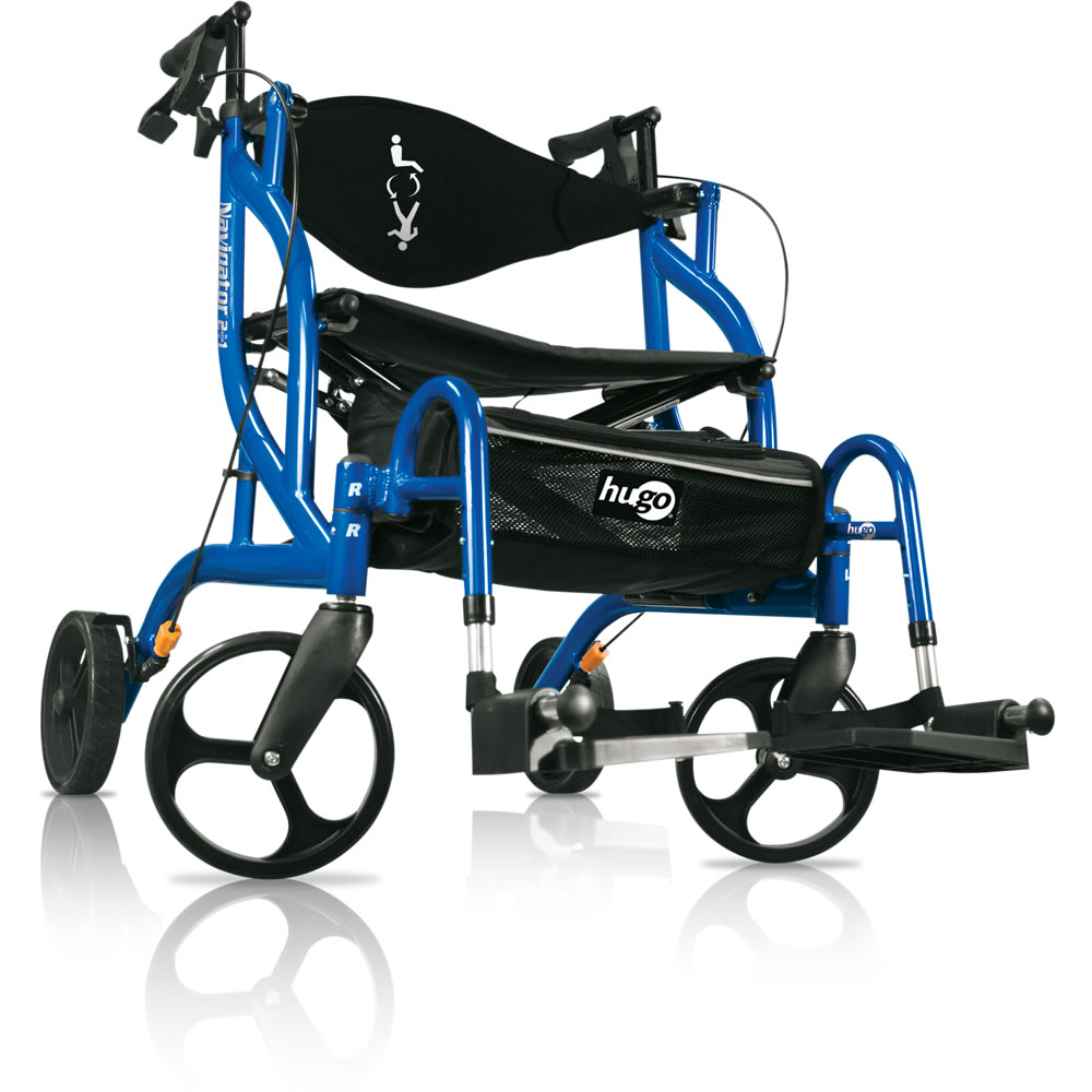 Hugo Navigator Side Folding Rolling Walker amp Transport