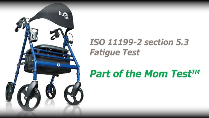 Each Hugo rollator is designed using the Mom Test™