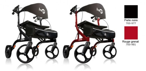 Ambulateur Hugo Explore, perle noire, rouge grenat