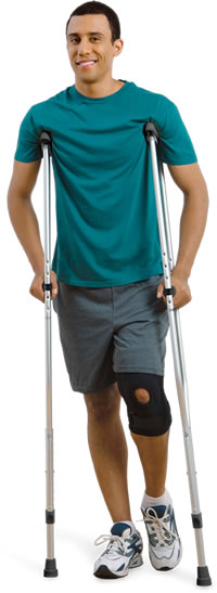 Hugo® Lightweight Aluminum Crutches with push-button adjustment