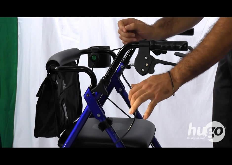 How to adjust the handles of your Hugo® rollator