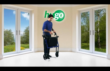 How to fold your Hugo® Rolling Walker with Seat