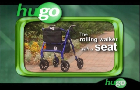 Hugo® Elite - Rolling Walker with a seat