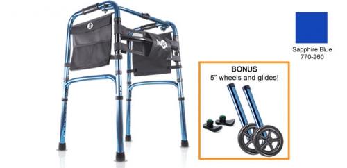 Hugo® Easy-Fold Lightweight Walker, Sapphire Blue